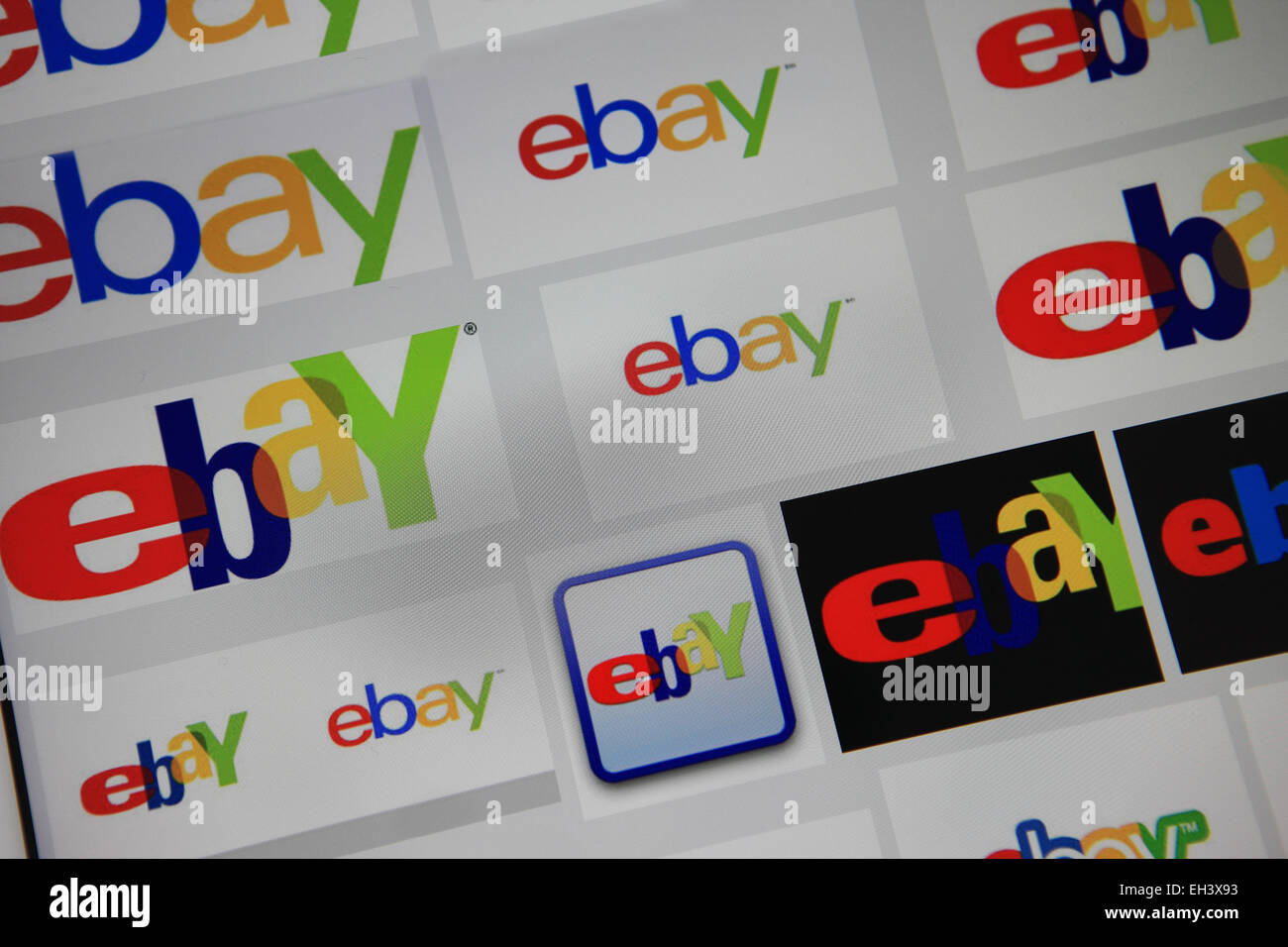 Ebay logos - Stock Image