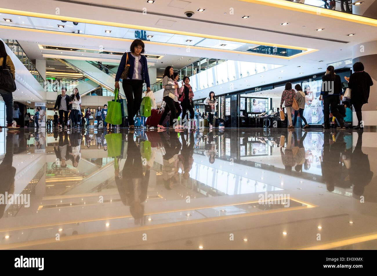 New Town Plaza shopping centre Hong Kong SAR - Stock Image