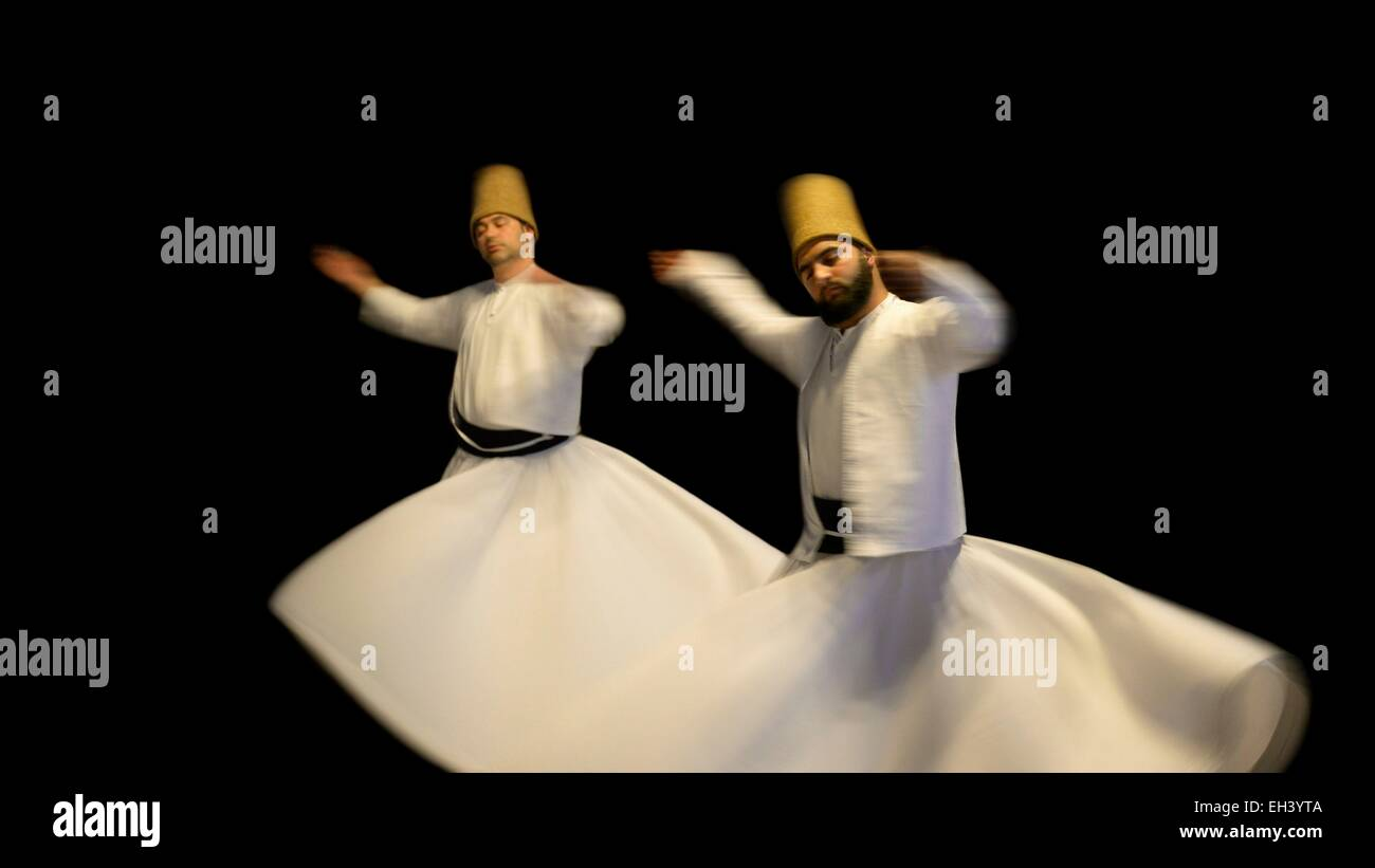 Turkey, Istanbul, Sema, Sufi whirling dervishes - Stock Image