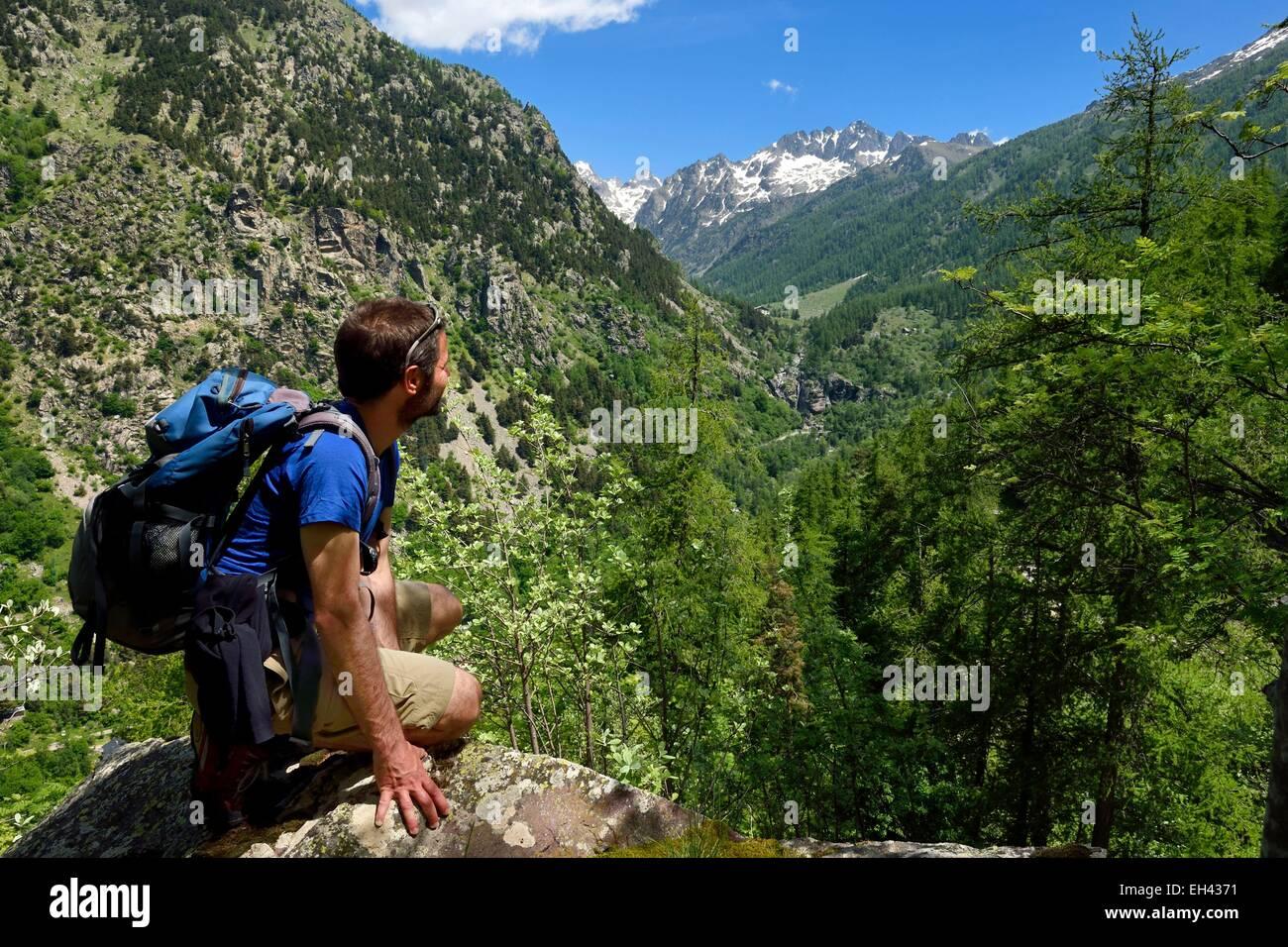 France, Alpes Maritimes, Parc National du Mercantour (Mercantour national park), Haute Vesubie, Gordolasque valley, Stock Photo