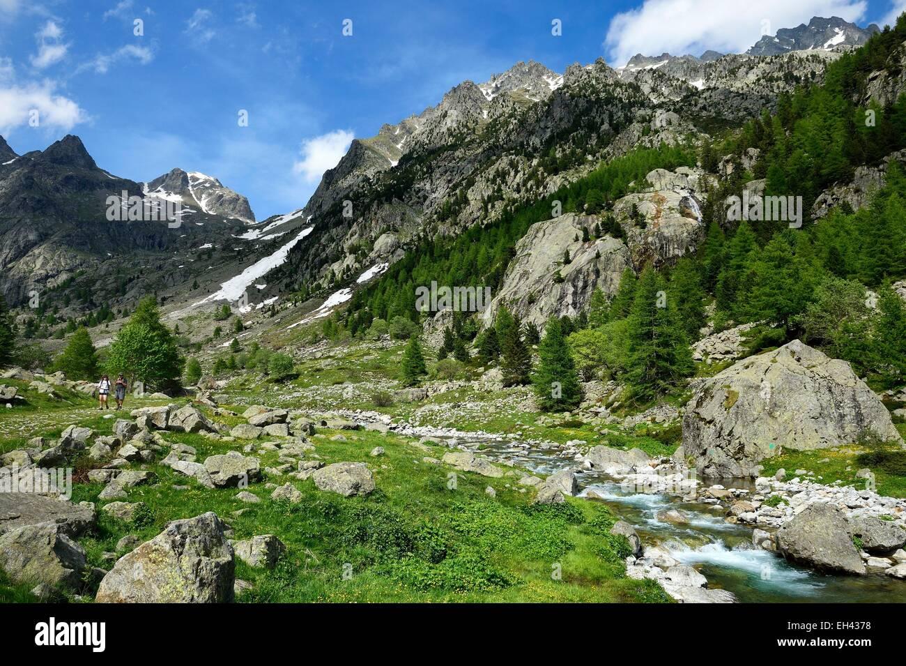 France, Alpes Maritimes, Parc National du Mercantour (Mercantour national park), Haute Vesubie, Gordolasque valley Stock Photo