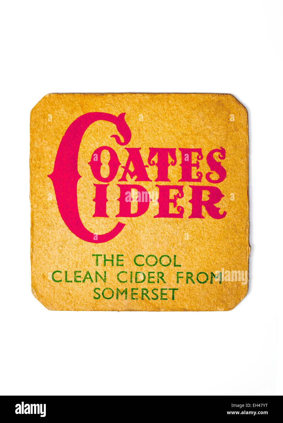 Vintage British Beermat Advertising Coates Cider - Stock Image