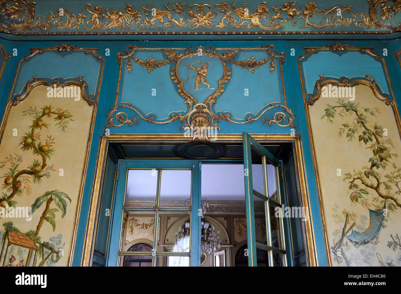 France, Alpes Maritimes, Nice, Fabron hill, the Villa des Palmiers then called Palais de Marbre (Marble Palace) - Stock Image