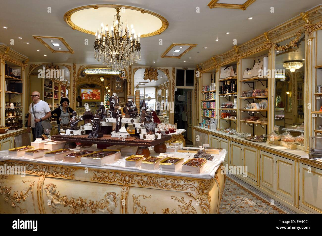 France, Alpes Maritimes, Nice, Maison Auer, chocolate and candy store - Stock Image