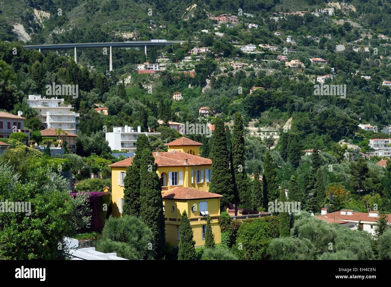 France, Alpes Maritimes, Menton, Garavan district, Regard sur Saint-Antoine villa - Stock Image