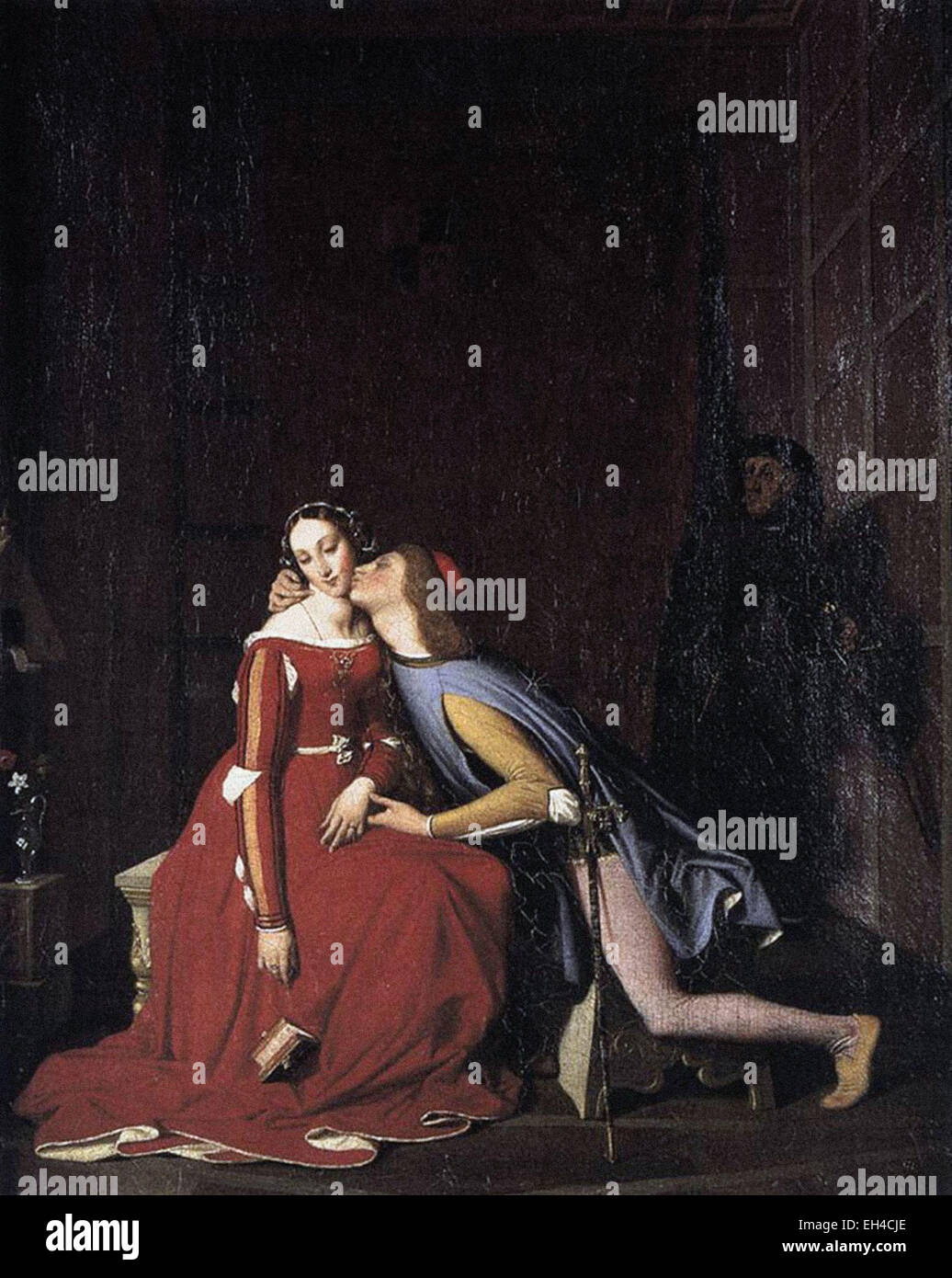 Jean-Auguste-Dominique Ingres  Paolo and Francesca - Stock Image