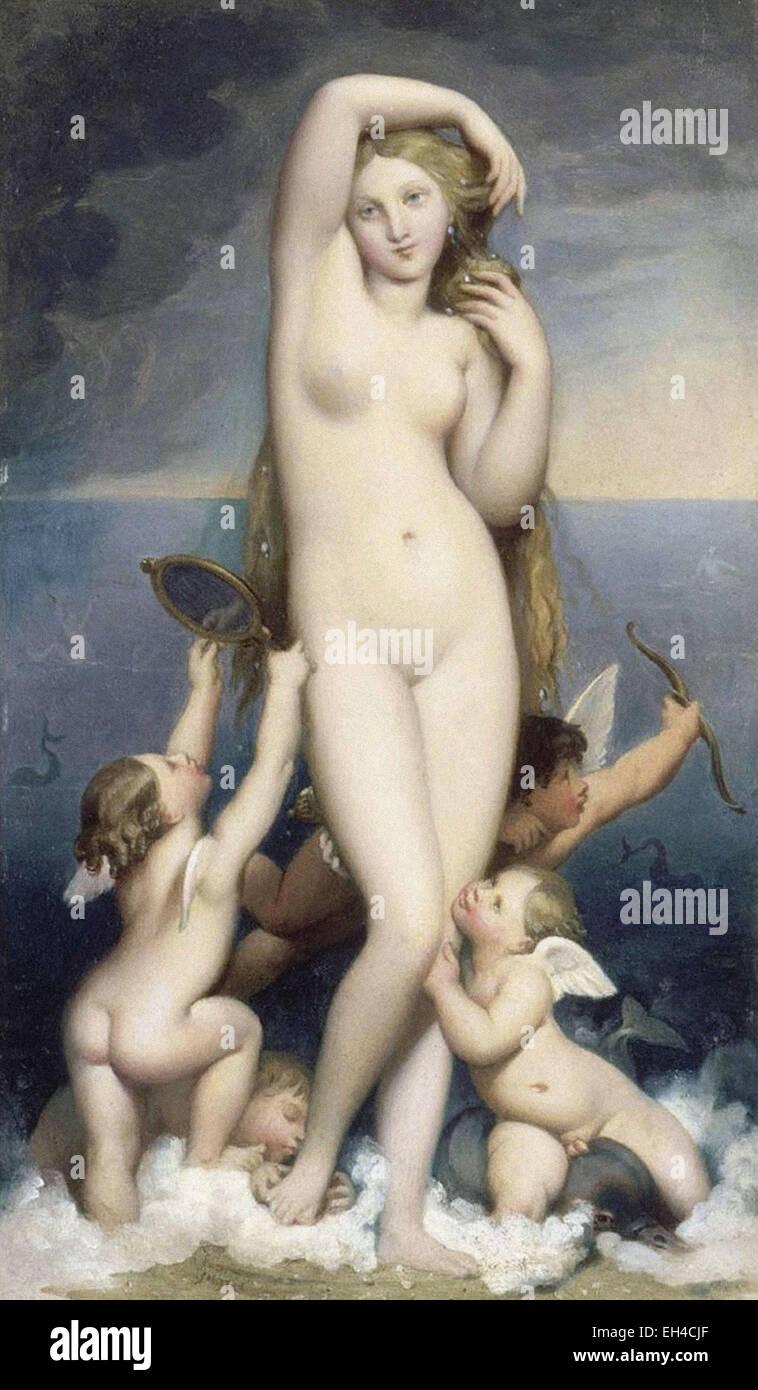 Jean-Auguste-Dominique Ingres  Venus Anadyomene - Stock Image