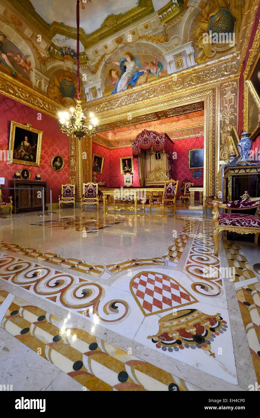Principality of Monaco, Monaco, the Rock, the royal palace, the Duke of York room - Stock Image