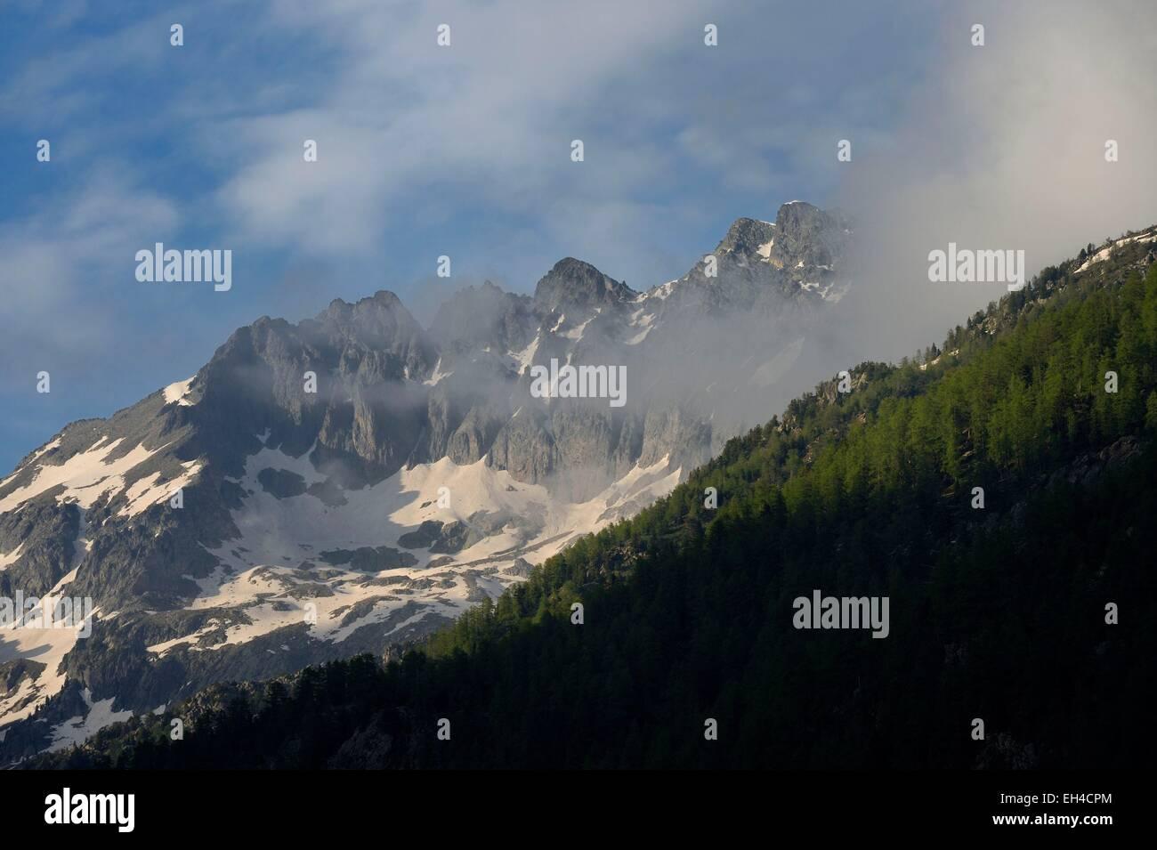 France, Alpes Maritimes, parc national du Mercantour (Mercantour national park), Haute-Vesubie, Gordolasque valley, Stock Photo