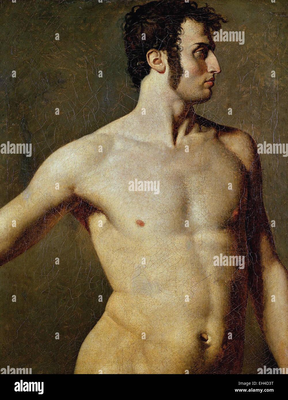 Jean-Auguste-Dominique Ingres  Male Torso - Stock Image