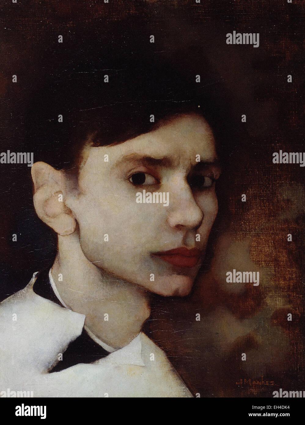 Jan Mankes  Self Portrait - Stock Image