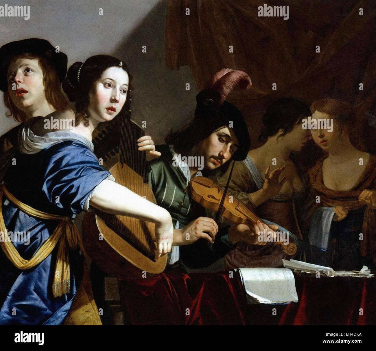 Jan van Bijlert  A Musical Company - Stock Image