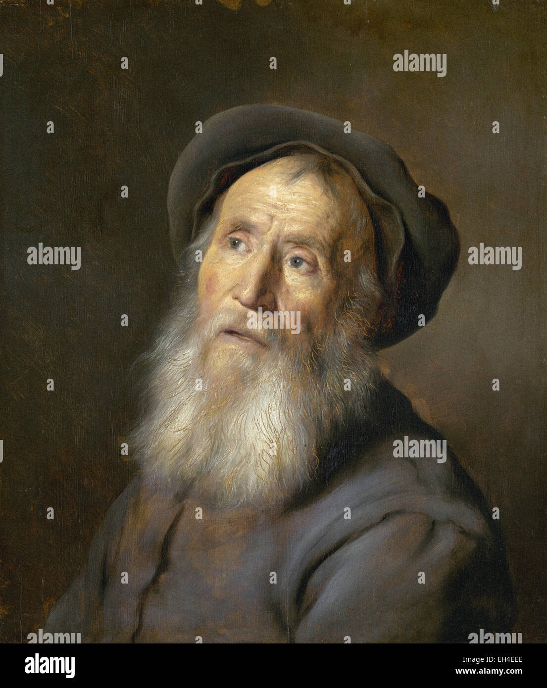 Jan Lievens  Bearded Man with a Beret - Stock Image