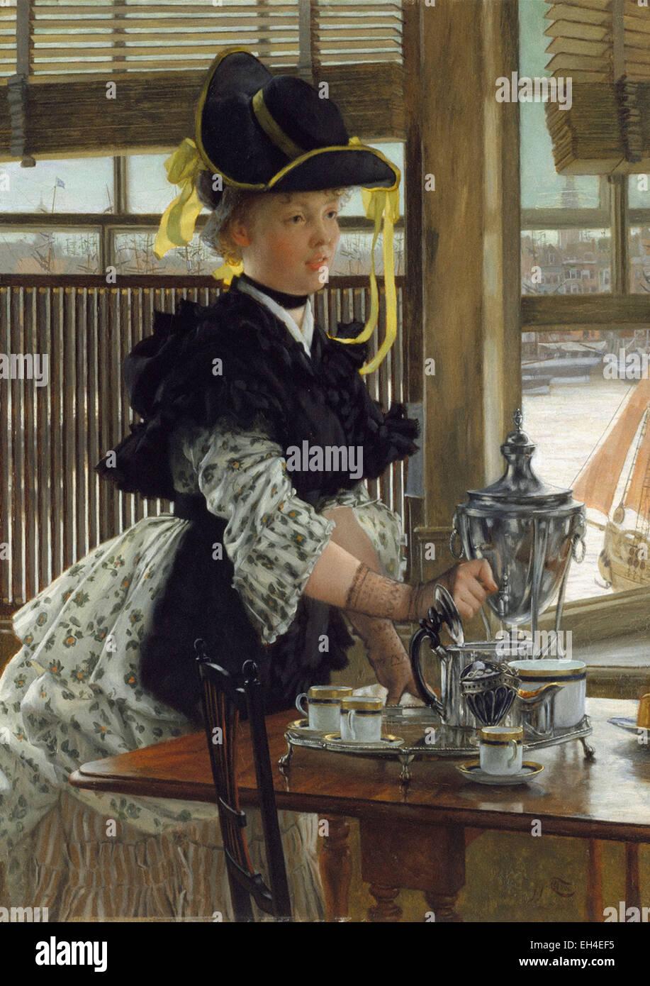 James Tissot  Tea - Stock Image