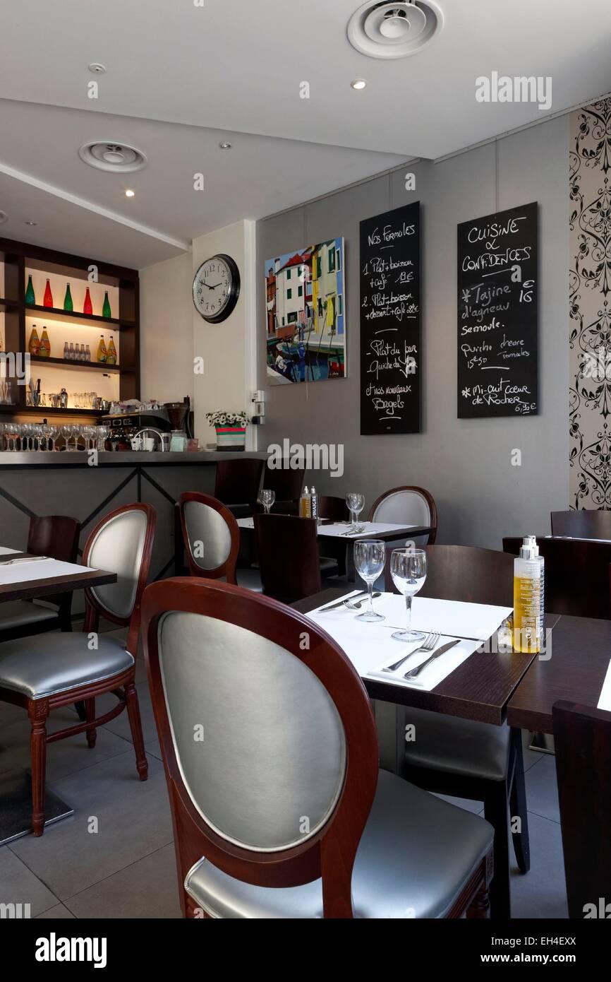 France Paris Cuisine Et Confidences Restaurant Stock Photo