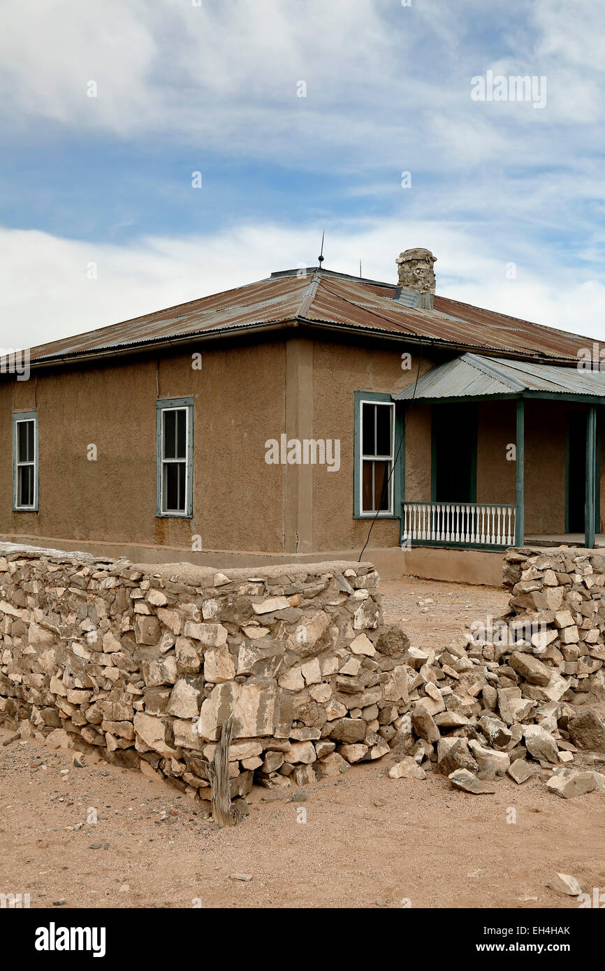 Schmidt McDonald Ranch House, Trinity Site (first nuclear explosion, 1945), New Mexico USA - Stock Image