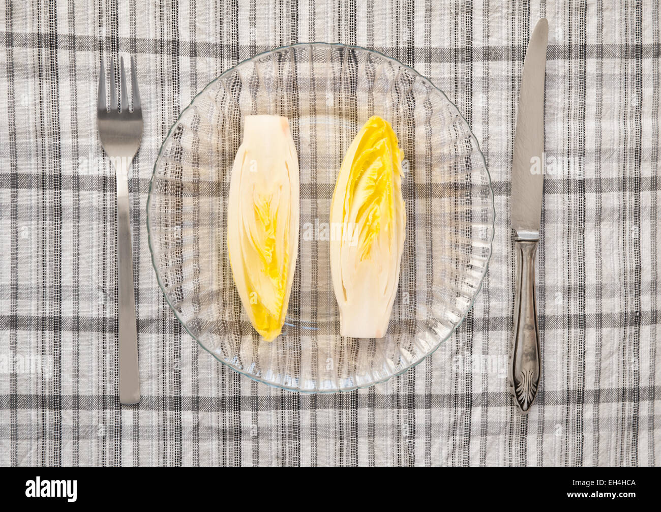 Chicory vegetable poor meal - Stock Image