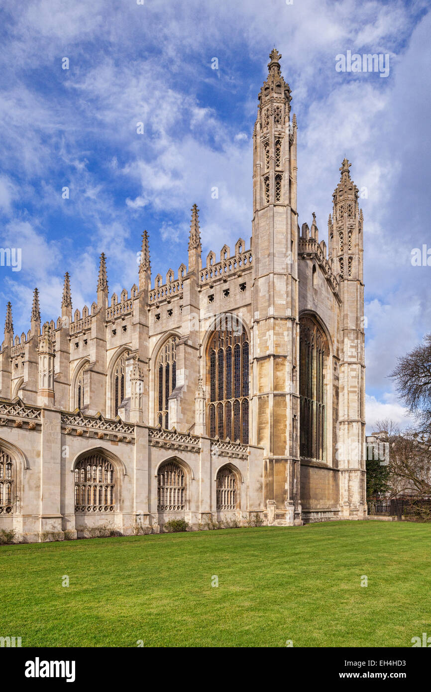 Esat end of King's College Chapel, Cambridge - Stock Image