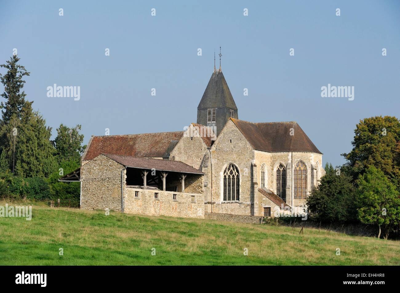 France, Marne, Montmort Lucy, Saint Pierre Saint Paul church - Stock Image