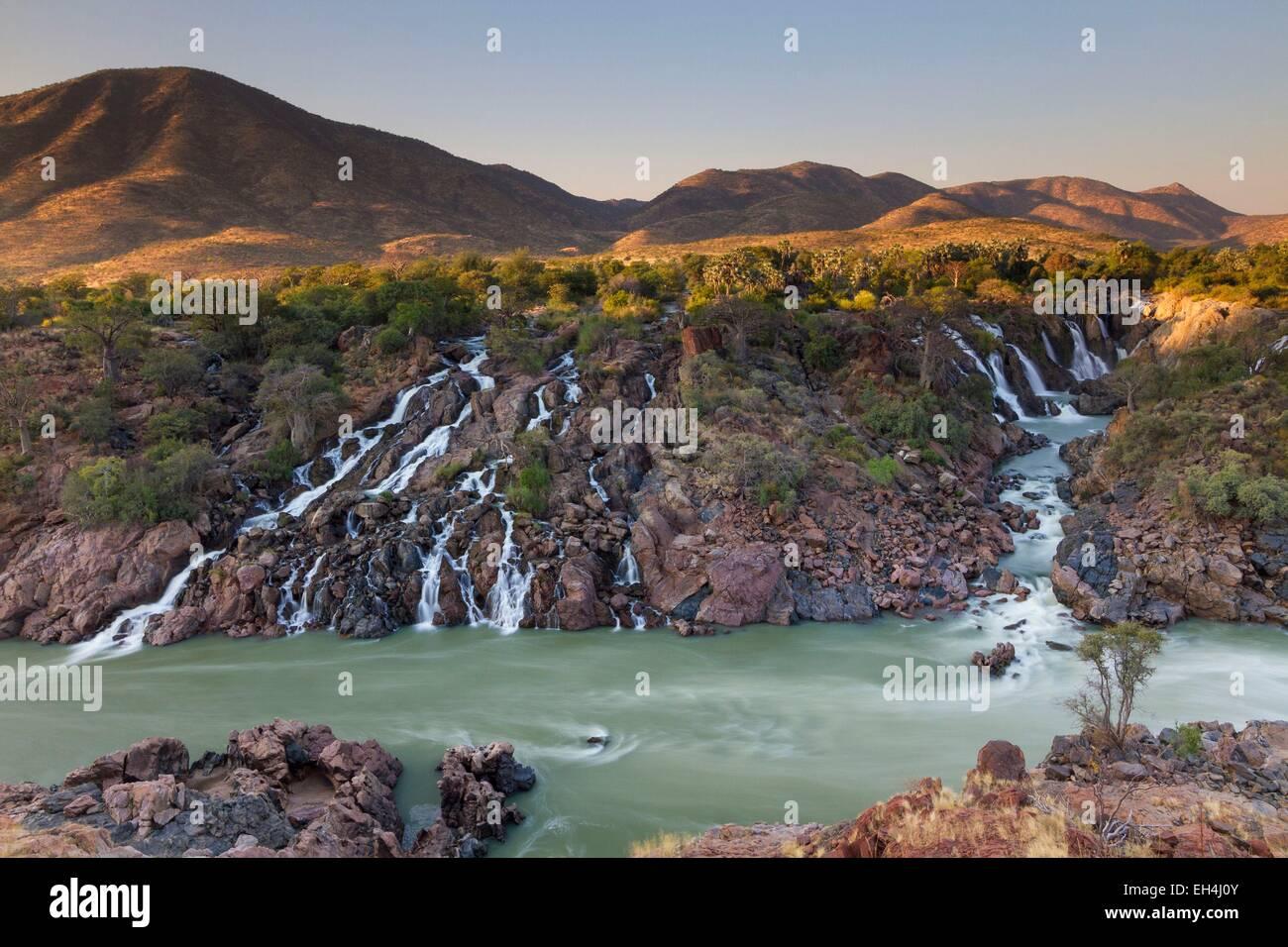 Namibia, Kunene region, Kaokoland, Epupa falls - Stock Image