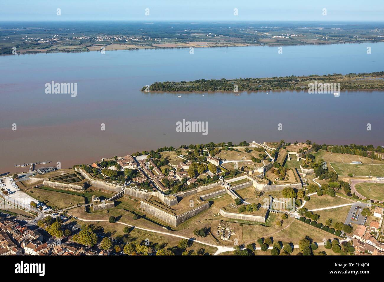 France, Gironde, Blaye, the citadel on the Gironde river, Fortifications of Vauban, listed as World Heritage by - Stock Image