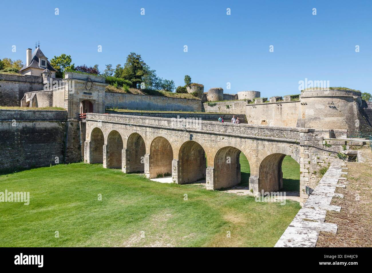 France, Gironde, Blaye, the Citadel, la Porte Royale, Fortifications of Vauban, listed as World Heritage by UNESCO - Stock Image