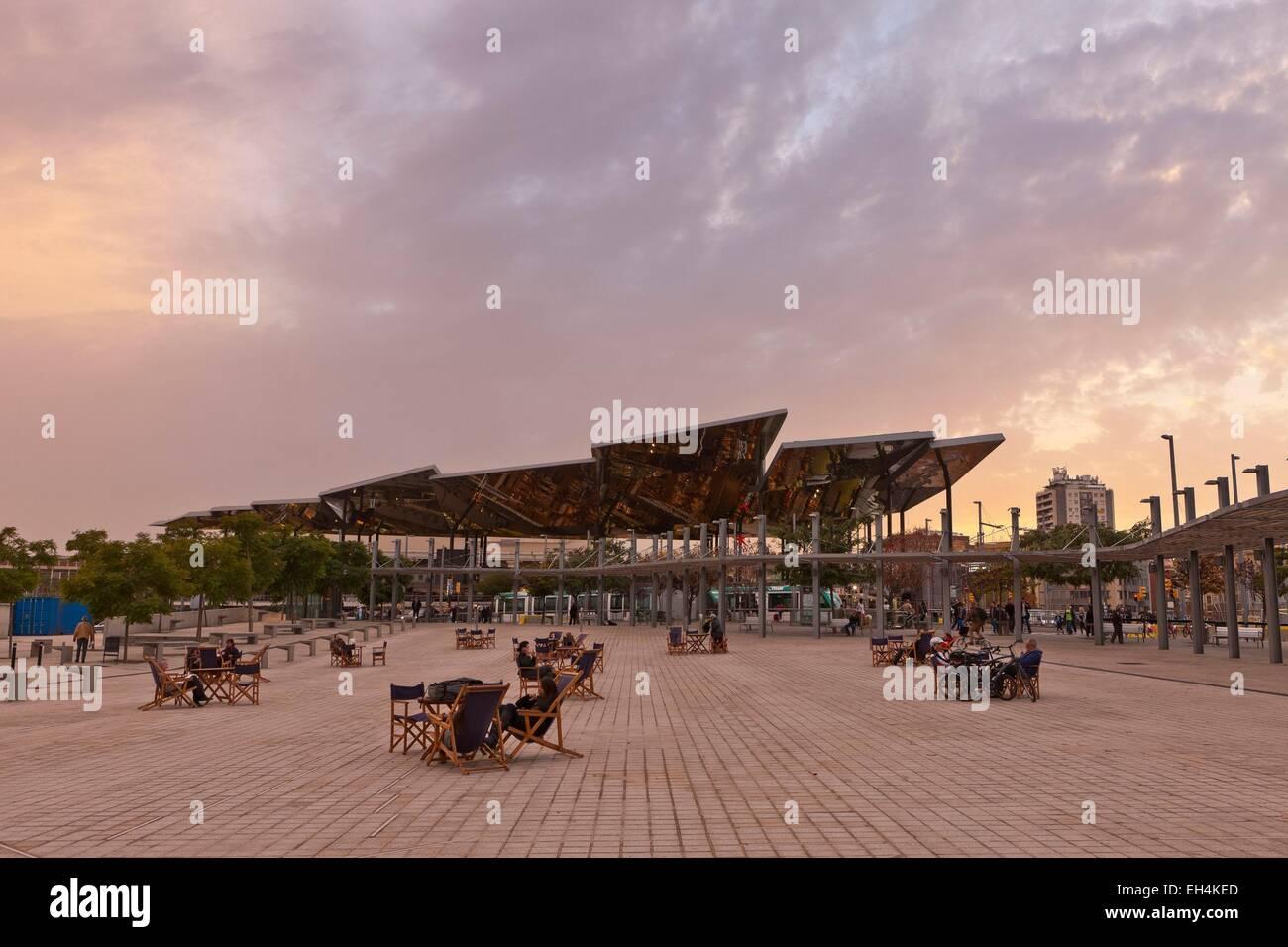 Spain, Catalonia, Barcelona, instead Glories, Mercat dels Encants (flea market) - Stock Image