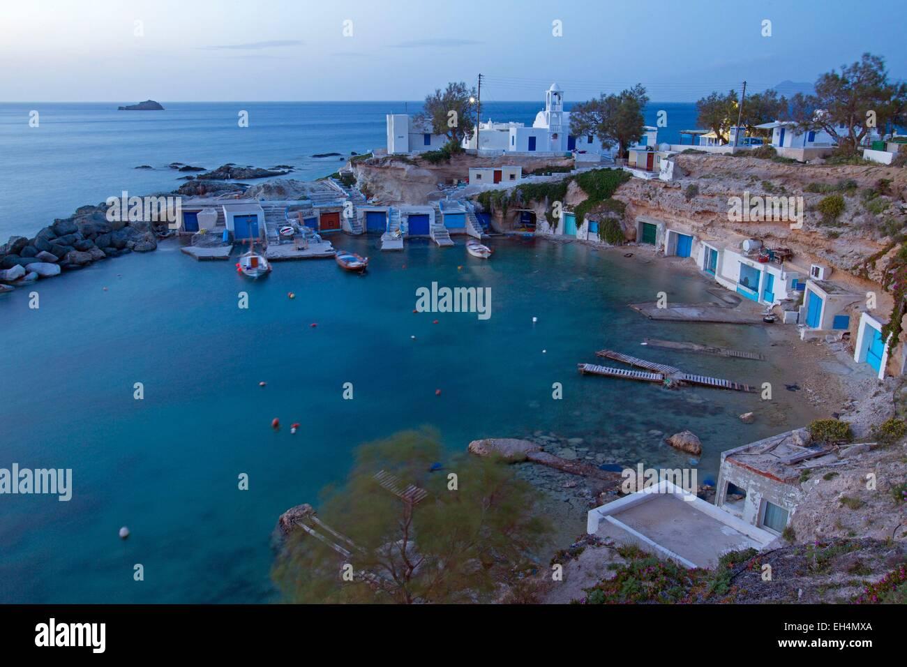 Greece, Cyclades, Island of Milos, Agios Konstantinos - Stock Image