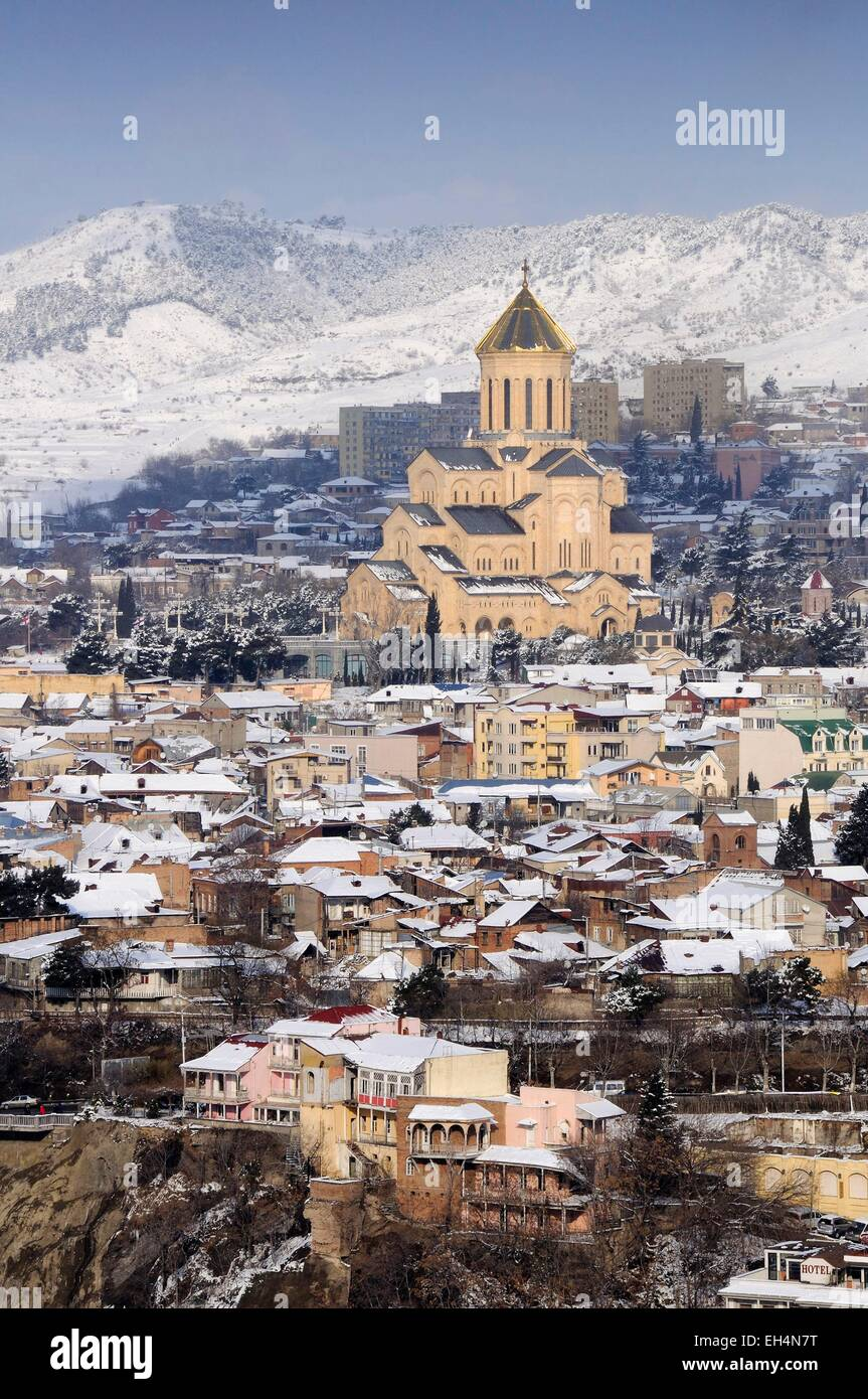 Georgia, Caucasus, Tbilisi, Holy Trinity Cathedral of Tbilisi - Stock Image