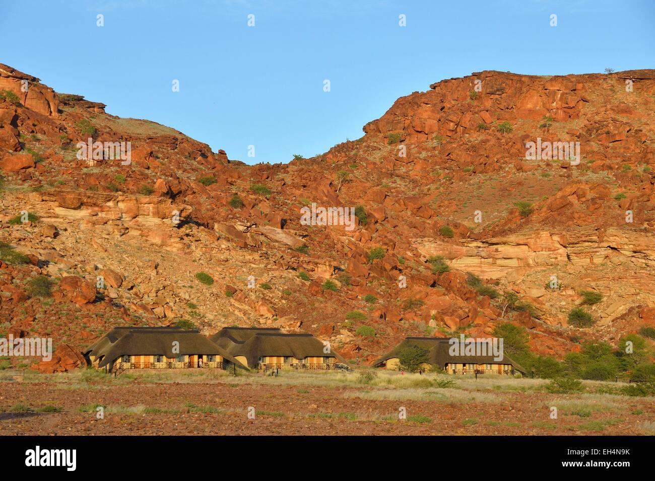 Namibia, Damaraland, Twyfeltontein, Twylfelfontein Lodge - Stock Image
