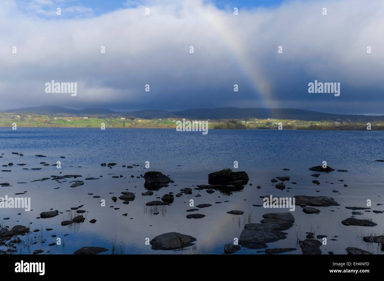 Ireland, Ulster, Donegal County, Glenveagh National Park, landscape lake - Stock Image