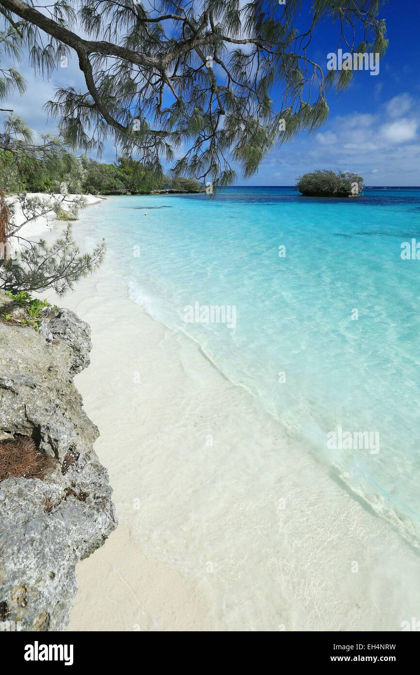 France, New Caledonia, the Loyalty Islands, Lifou, Lossi district Luengoni tribe beach - Stock Image