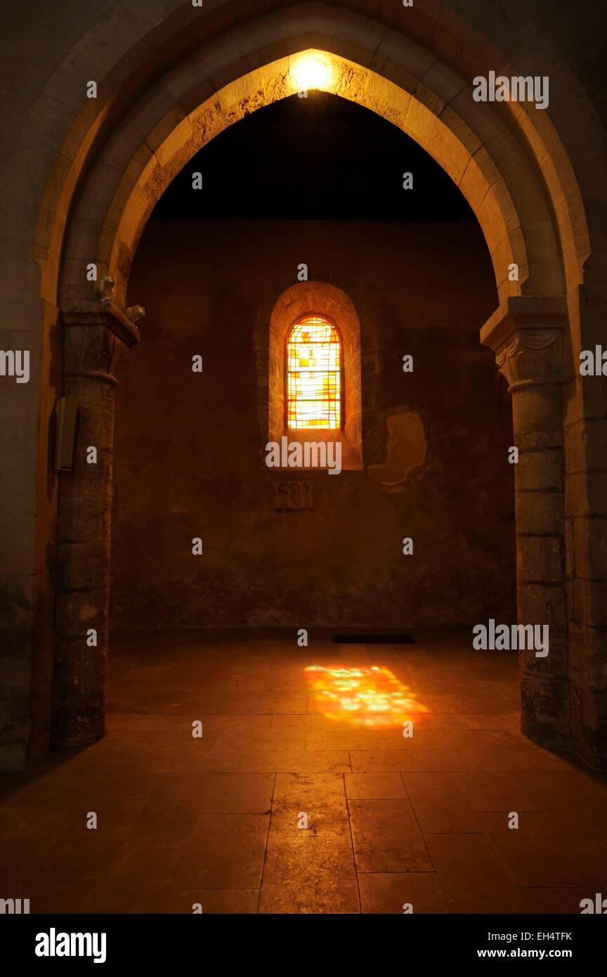 France, Marne, Vertus, Saint Martin church, lateral chapel - Stock Image