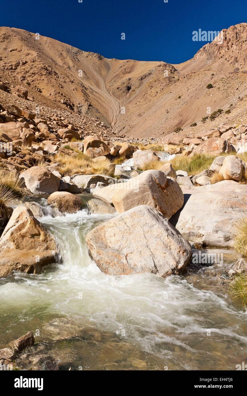 Morocco, High Atlas, Toubkal National Park, Ourika Valley - Stock Image