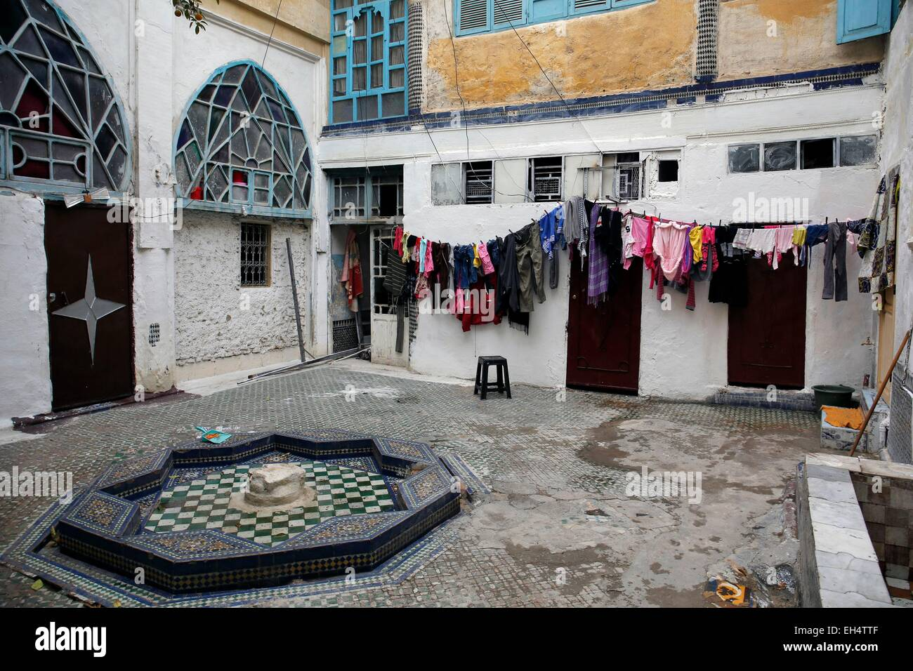 Morocco, Middle Atlas, Fez, Imperial City, the Mellah quarter close to the royal palace was reserved for the jews Stock Photo