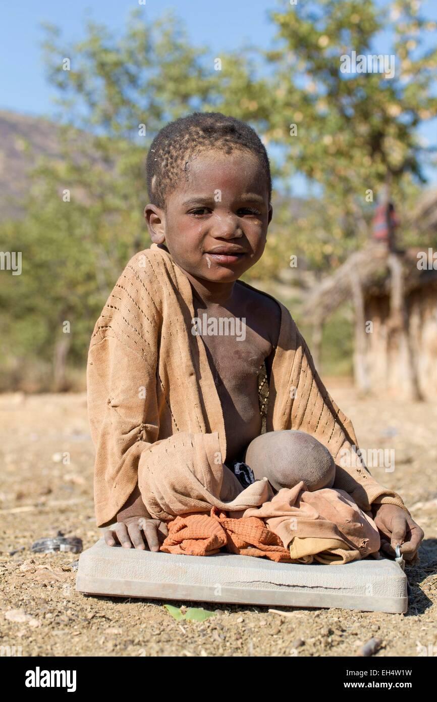 Namibia, Kunene region, Kaokoland, village near Opuwo, child - Stock Image