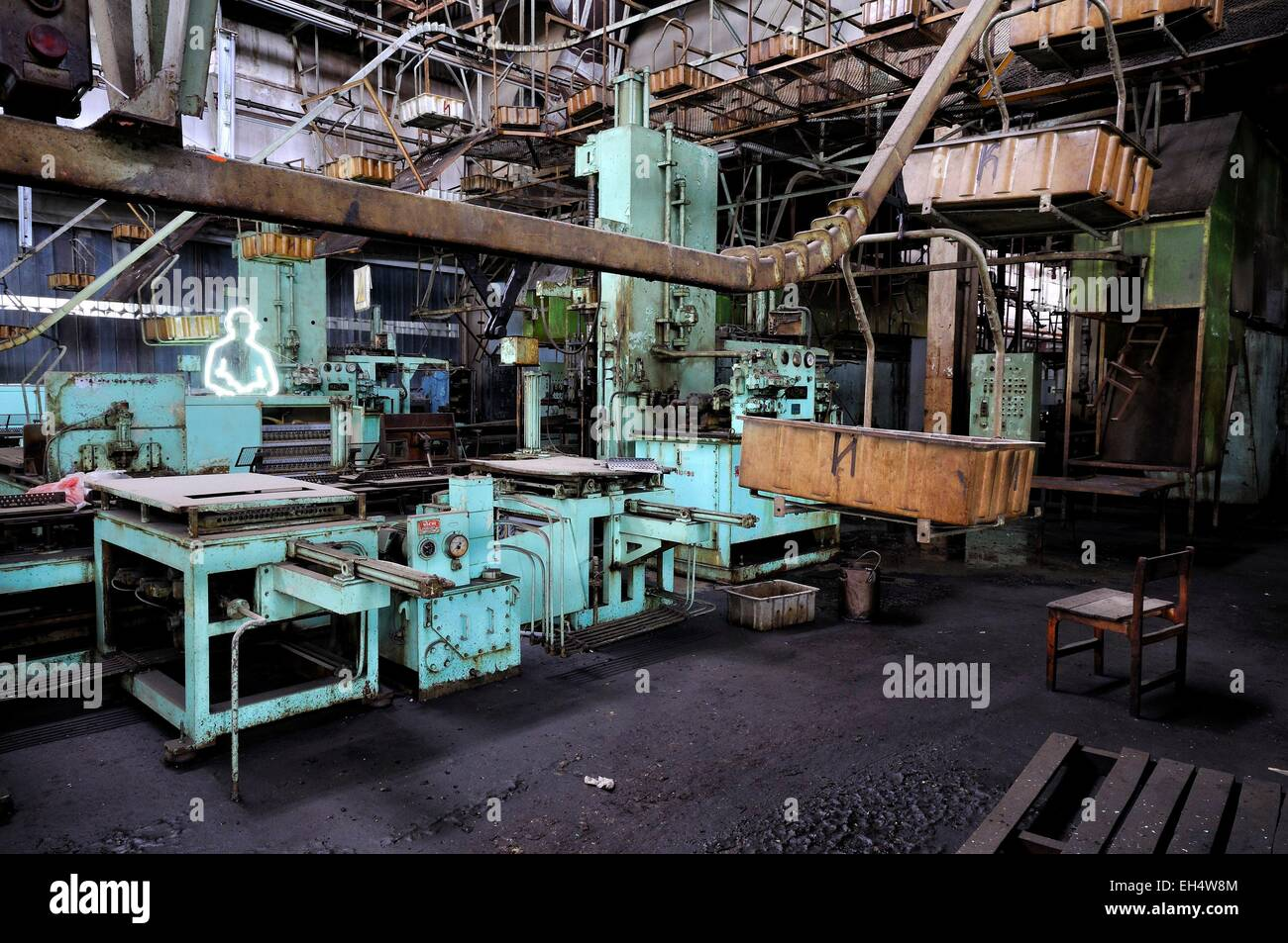 Azerbaijan, Baku, abandoned air conditioner factory which used to employ 6000 workers in the 1970s until the production Stock Photo
