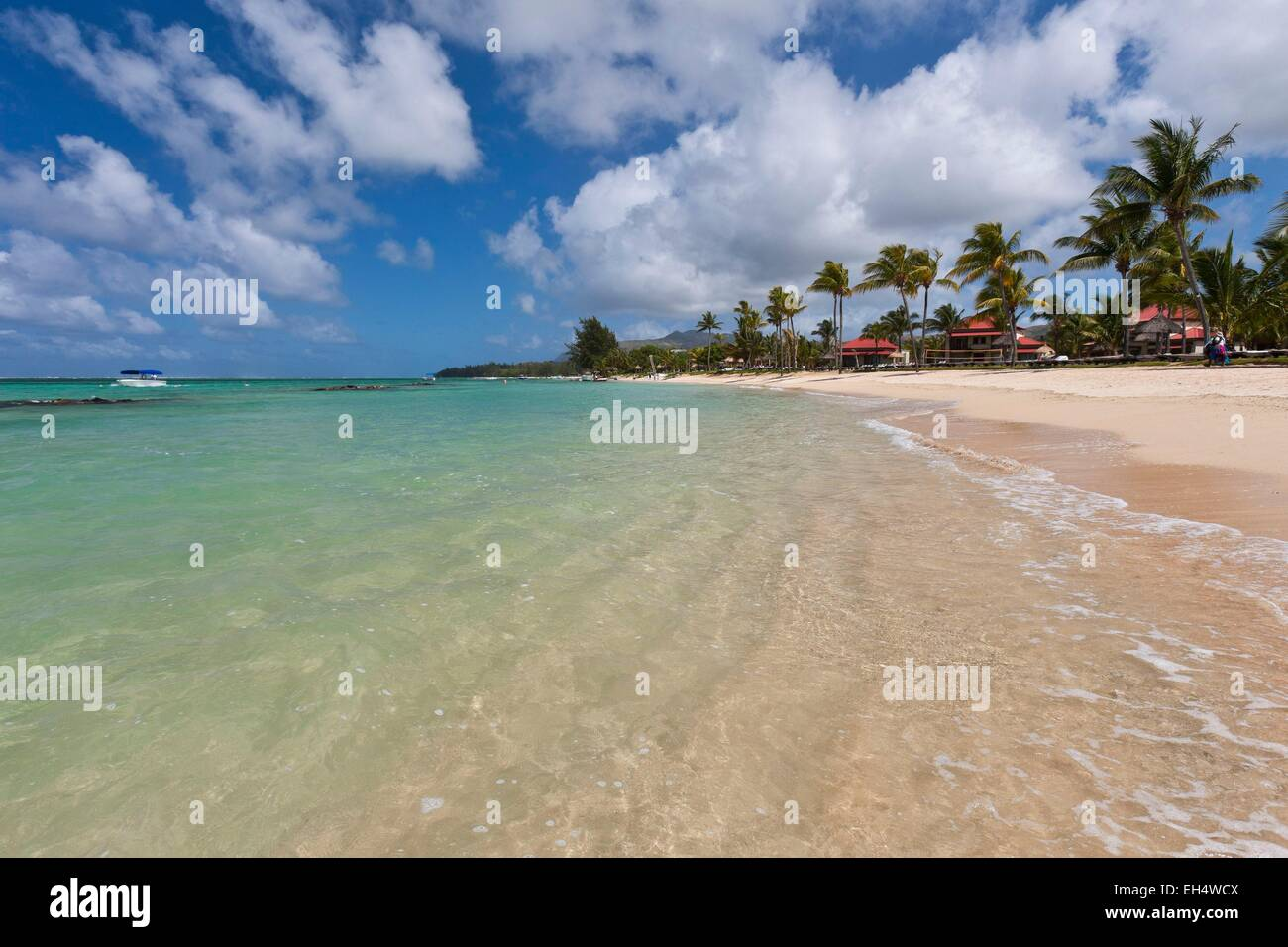 Mauritius, South West Coast, Savanne District, Bel Ombre beach - Stock Image