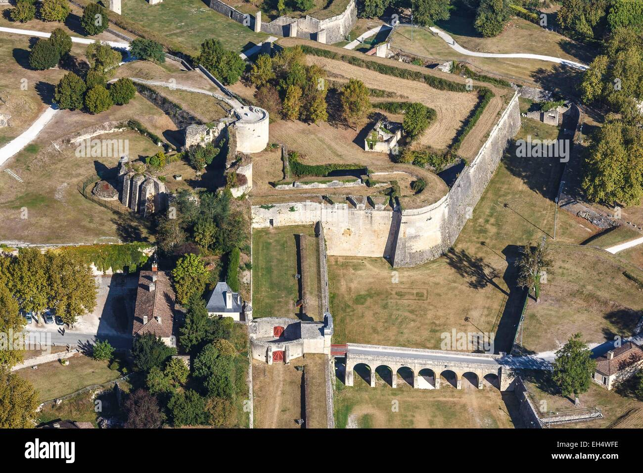 France, Gironde, Blaye, The citadel, Fortifications of Vauban, listed as World Heritage by UNESCO, the Porte royale - Stock Image