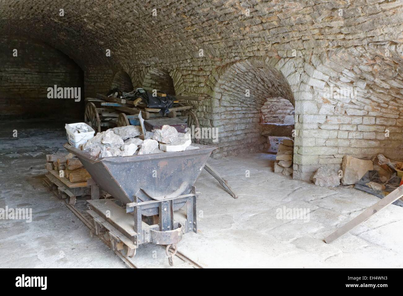France, Saone et Loire, Berze la Ville, former oven - Stock Image