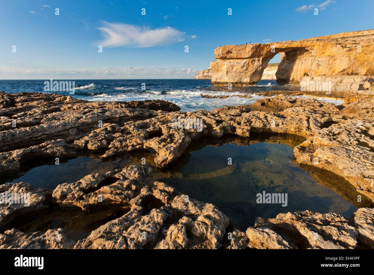 Malta, Gozo island, the natural arch of Azure Window Stock Photo