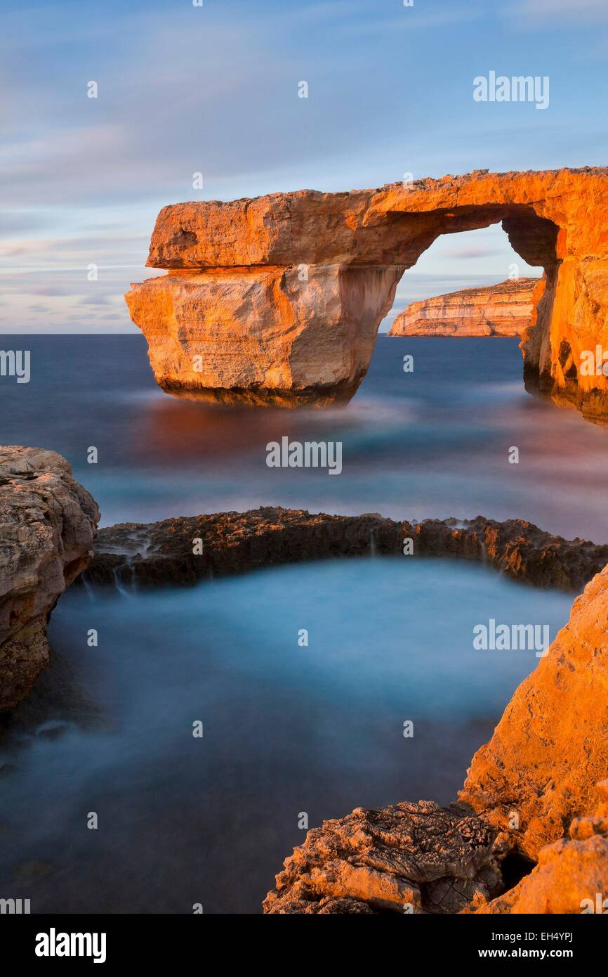 Malta, Gozo island, the natural arch of Azure Window - Stock Image