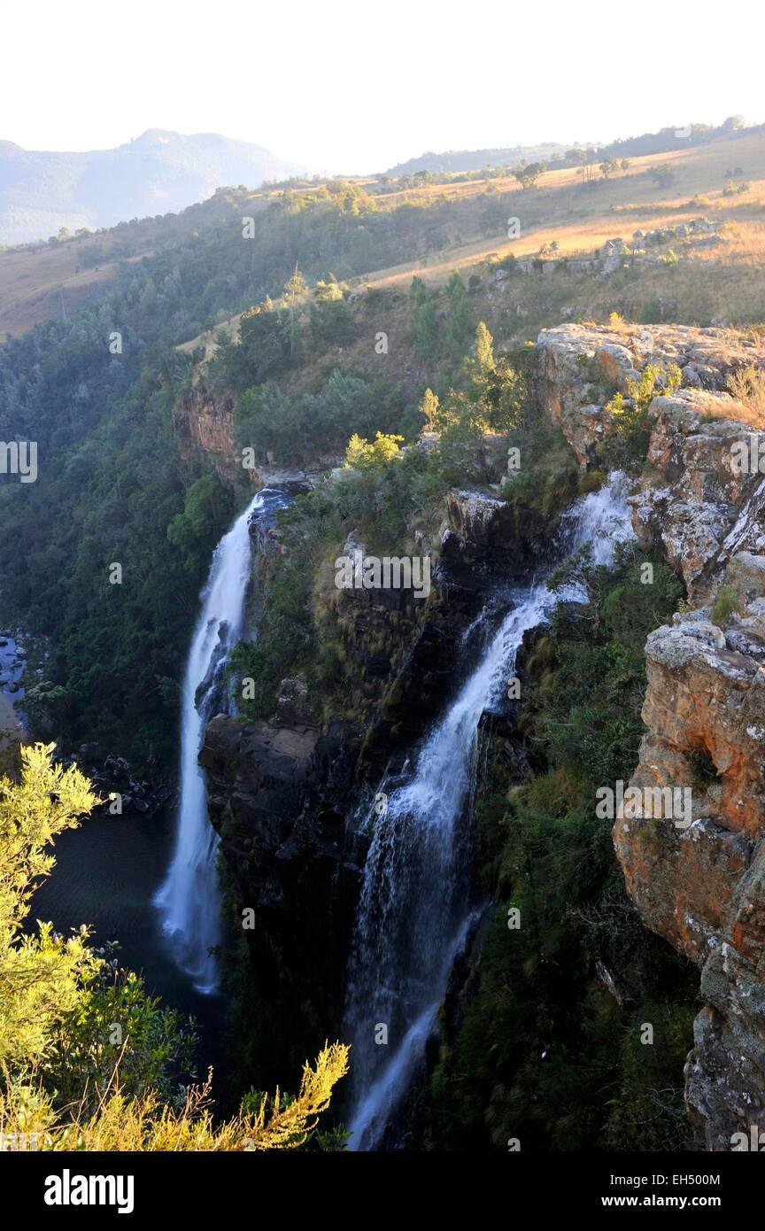 South Africa, Mpumalanga, Drakensberg Escarpment, Blyde River Canyon, Lisbon Falls - Stock Image