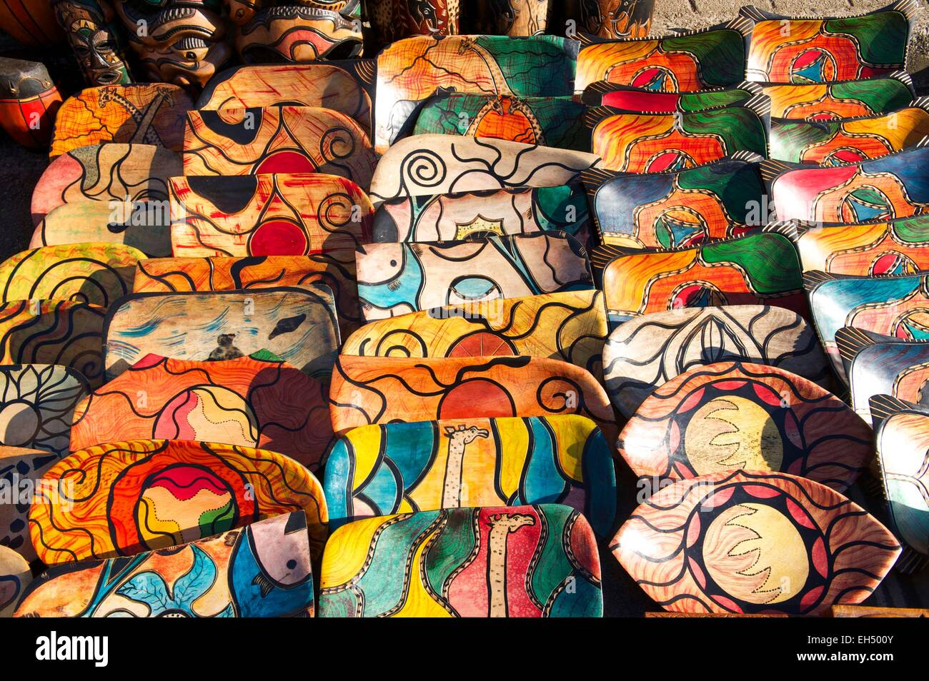 South Africa, Mpumalanga, Graskop, traditional plates - Stock Image
