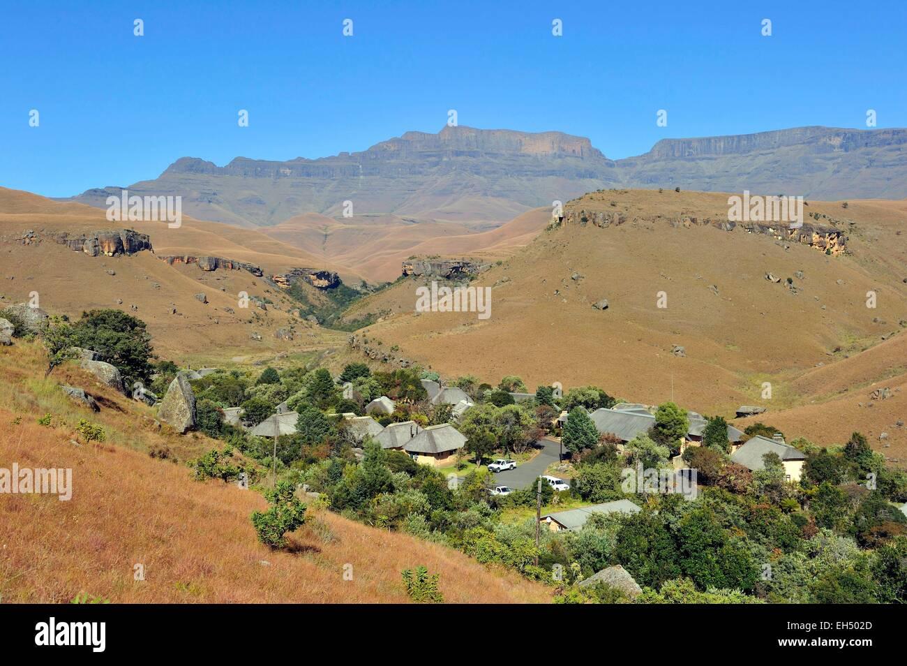 South Africa, Kwazulu Natal, Drakensberg mountains, uKhahlamba Park, listed as World Heritage by UNESCO, Giant's Stock Photo