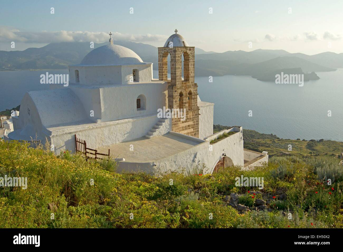 Greece, Cyclades, Island of Milos, Plaka - Stock Image