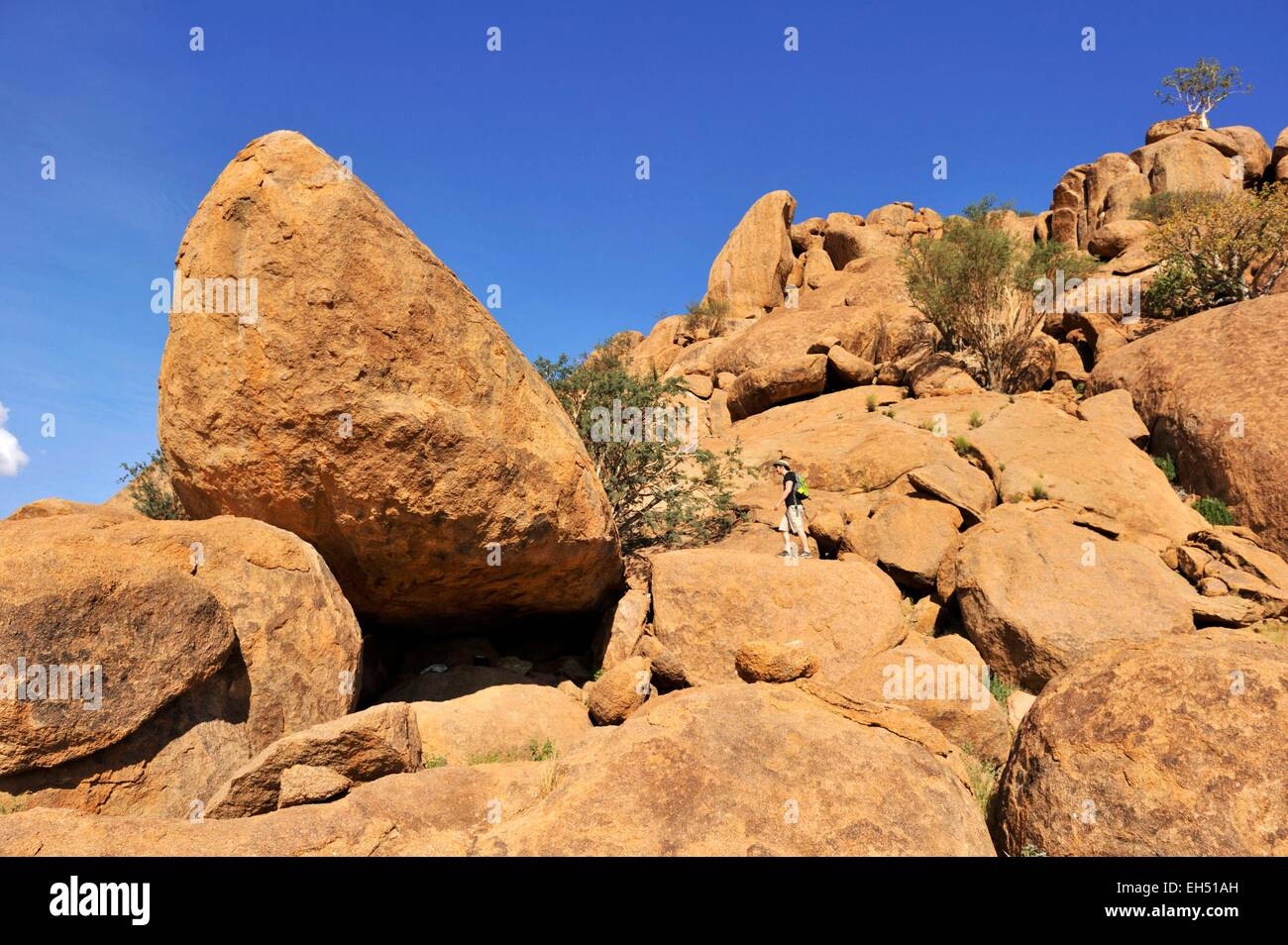 Namibia, Damaraland, Twyfeltontein, listed as World Heritage by UNESCO - Stock Image
