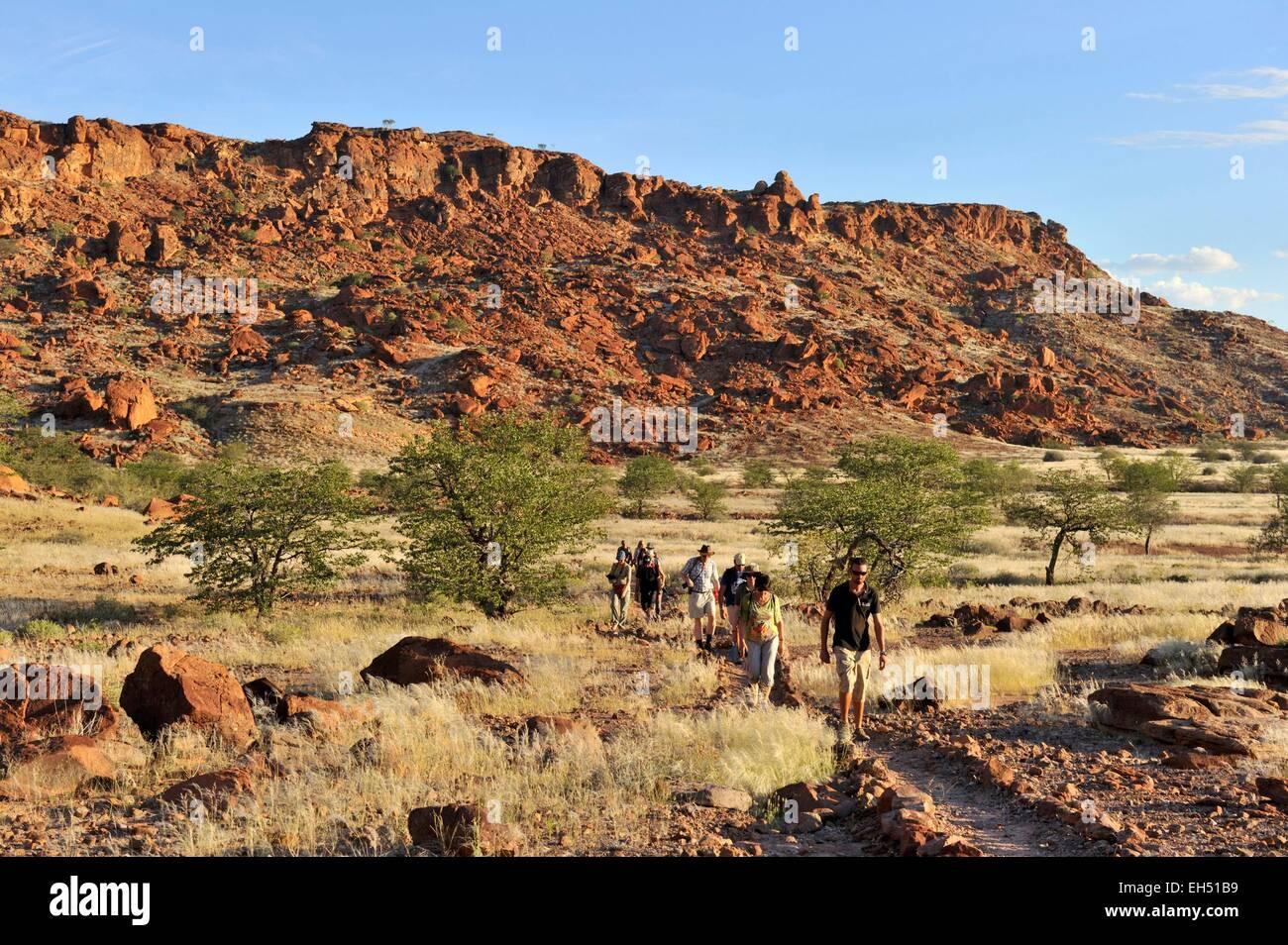 Namibia, Damaraland, Twyfeltontein, listed as World Heritage by UNESCO - Stock Image