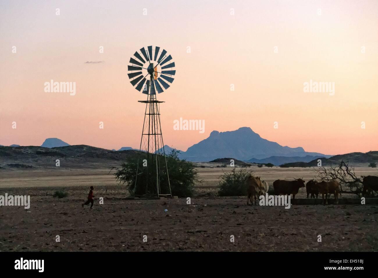 Namibia, Damaraland, thé road to Twyfeltontein - Stock Image