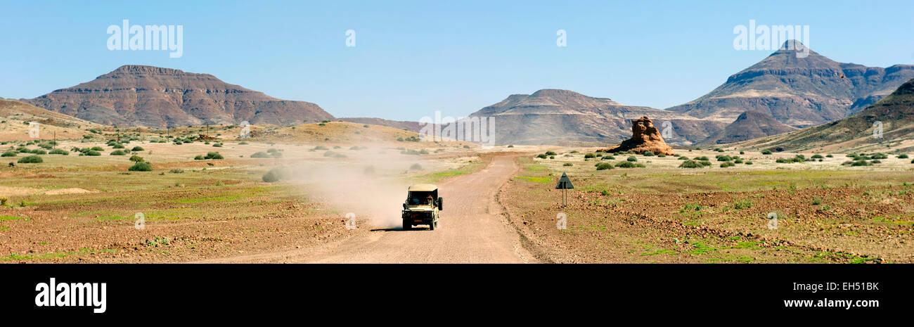 Namibia, Damaraland, the road to Twyfeltontein - Stock Image